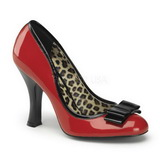 Vermelho Verniz 10 cm SMITTEN-01 Sapatos Scarpin Femininos