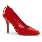 Vermelho Verniz 10 cm VANITY-420 Scarpin Saltos Altos para Homens