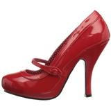Vermelho Verniz 12 cm CUTIEPIE-02 Sapatos Scarpin Femininos