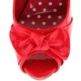 Vermelho Verniz 12 cm CUTIEPIE-08 Plataforma Scarpin Salto Alto