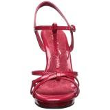 Vermelho Verniz 12 cm FLAIR-420 Sandália Feminina Salto Alto