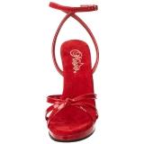 Vermelho Verniz 12 cm FLAIR-436 Saltos Altos para Homens