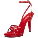 Vermelho Verniz 12 cm FLAIR-436 Sandália Feminina Salto Alto