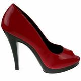 Vermelho Verniz 12 cm FLAIR-474 Scarpin Saltos Altos para Homens