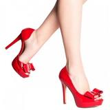 Vermelho Verniz 12 cm LUMINA-32 sapato scarpin para noite de gala