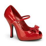 Vermelho Verniz 12 cm retro vintage CUTIEPIE-08 Plataforma Scarpin Salto Alto
