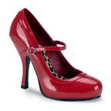 Vermelho Verniz 12 cm rockabilly PRETTY-50 Sapatos Scarpin Femininos