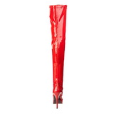 Vermelho Verniz 13,5 cm INDULGE-3000 bota acima do joelho