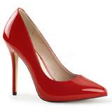 Vermelho Verniz 13 cm AMUSE-20 Sapatos Scarpin Salto Agulha