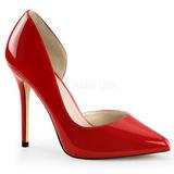 Vermelho Verniz 13 cm AMUSE-22 classico calçados scarpini