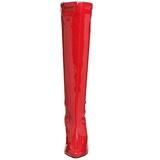 Vermelho Verniz 13 cm Pleaser SEDUCE-2000 Botas Femininas