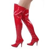 Vermelho Verniz 13 cm SEDUCE-3000 bota acima do joelho