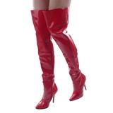 Vermelho Verniz 13 cm SEDUCE-3010 bota acima do joelho