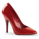 Vermelho Verniz 13 cm SEDUCE-420 scarpin de bico fino salto alto
