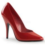 Vermelho Verniz 13 cm SEDUCE-420V scarpin de bico fino salto alto