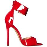 Vermelho Verniz 13 cm SEXY-19 sandálias para noite de gala