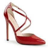 Vermelho Verniz 13 cm SEXY-26 classico calçados scarpini