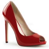 Vermelho Verniz 13 cm SEXY-42 classico calçados scarpini
