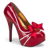 Vermelho Verniz 14,5 cm Burlesque TEEZE-14 calçados femininos com salto alto