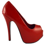 Vermelho Verniz 14,5 cm Burlesque TEEZE-22 Sapatos Scarpin Salto Agulha