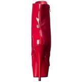 Vermelho Verniz 15,5 cm DELIGHT-1020 Plataforma Botinha Cano Curto