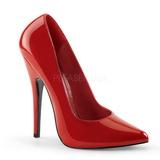 Vermelho Verniz 15 cm DOMINA-420 Scarpin Saltos Altos para Homens