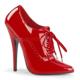 Vermelho Verniz 15 cm DOMINA-460 Sapatos Scarpin Femininos