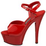 Vermelho Verniz 15 cm FUNTASMA JULIET-209 Saltos Altos Plataforma