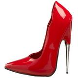 Vermelho Verniz 15 cm SCREAM-01 Sapatos Scarpin Stiletto Salto Agulha