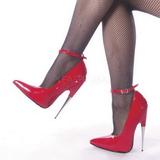 Vermelho Verniz 15 cm SCREAM-12 Sapatos Scarpin Stiletto Salto Agulha