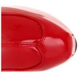 Vermelho Verniz 15 cm TEEZE-3000 bota acima do joelho