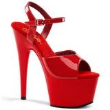 Vermelho Verniz 18 cm ADORE-709 Saltos Altos Plataforma