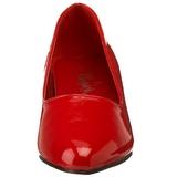 Vermelho Verniz 5 cm FAB-420W Scarpin Saltos Altos para Homens