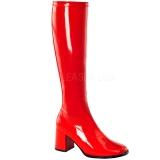 Vermelho Verniz 7,5 cm GOGO-300 Botas Mulher para Homens