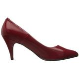 Vermelho Verniz 7,5 cm PUMP-420 classico calçados scarpini
