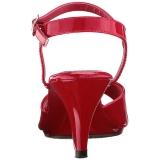 Vermelho Verniz 8 cm BELLE-309 Saltos Altos para Homens