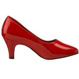 Vermelho Verniz 8 cm DIVINE-420W Sapatos Scarpin Femininos
