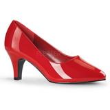Vermelho Verniz 8 cm DIVINE-420W Scarpin Saltos Altos para Homens
