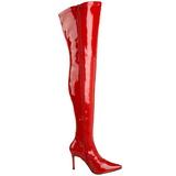 Vermelho Verniz 9,5 cm LUST-3000 bota acima do joelho