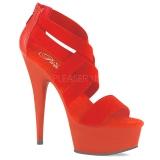 Vermelho banda elástica 15 cm DELIGHT-669 sapatos pleaser femininos