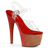 Vermelho brilho 18 cm Pleaser ADORE-708OMBRE sapatos de saltos pole dance