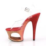Vermelho brilho 18 cm Pleaser MOON-708OMBRE sapatos de saltos pole dance