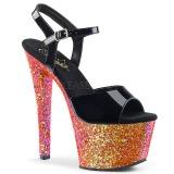 Vermelho brilho 18 cm Pleaser SKY-309LG sapatos de saltos pole dance