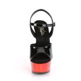 Vermelho cromo plataforma 15 cm DELIGHT-609 saltos altos pleaser