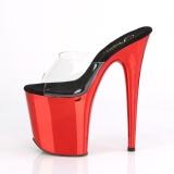 Vermelho cromo plataforma 20 cm FLAMINGO-801 chinelo com salto alto pleaser