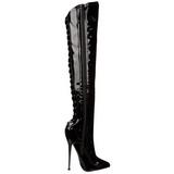 Verniz 16 cm DAGGER-3060 botas altas cano longo