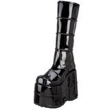 Verniz 18 cm STACK-301 Goticas Botas Homem Plataforma