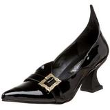 Verniz 6,5 cm SALEM-06 sapatos scarpin de bruxa