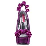 Violeta Cetim 14,5 cm Burlesque TEEZE-56 Sandálias Salto Agulha