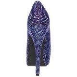 Violeta Pedra Cristal 14,5 cm Burlesque TEEZE-06R Plataforma Scarpin Salto Alto